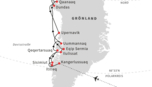 Route Hurtigruten Grönland Kreuzfahrt: Expedition Thule